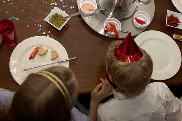 Детский новогодний стол