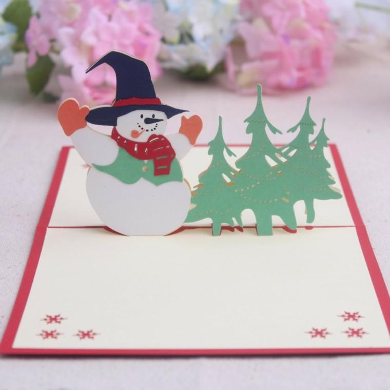 открытка-снеговик